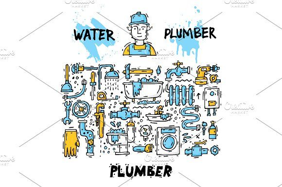 Plumber by Podis on @creativemarket