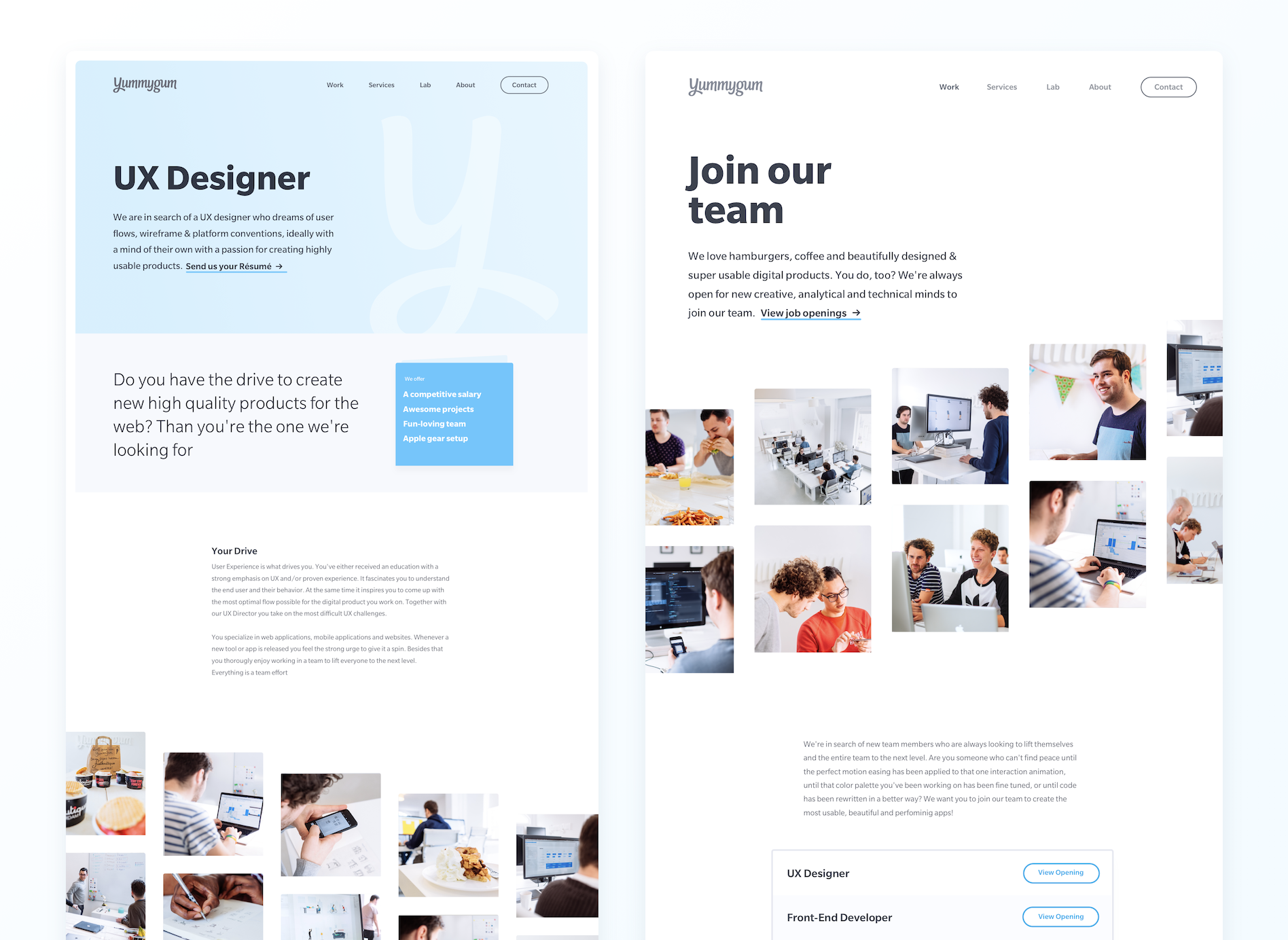 Careers Page Attachment By Yummygum Web Design Inspiration Web Design Career