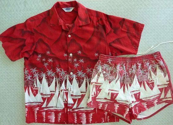 b3ee99b210df Pilgrim vintage 1950s 50s Mens Hawaiian Cabana suit set by cowpunkabilly