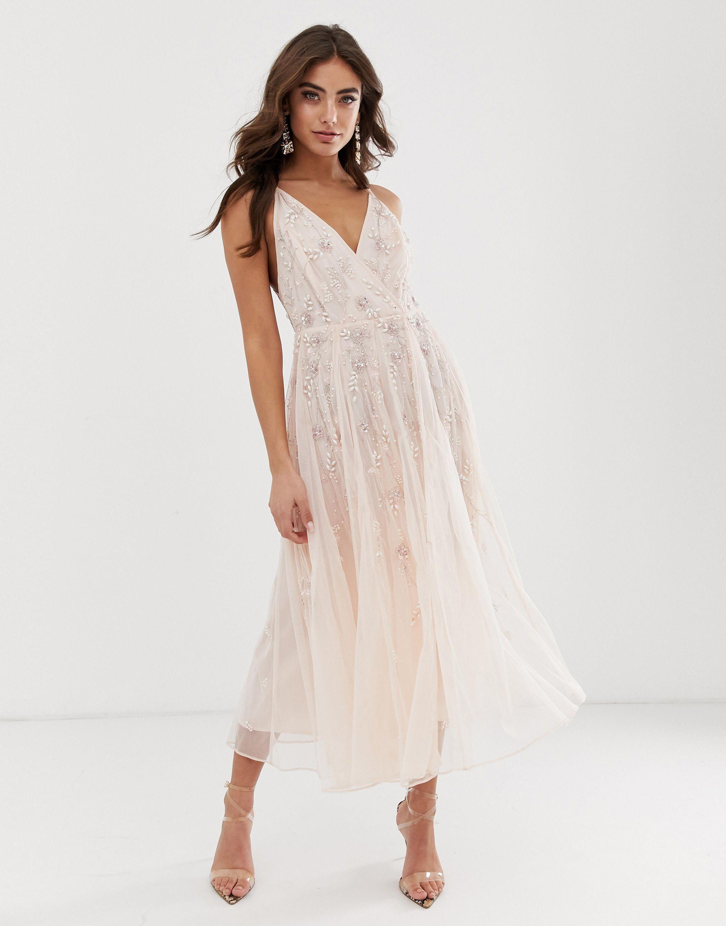 32 Beautiful Summer Wedding Guest Dresses For 2020 In 2020 Strappy Midi Dress Maxi Dress Prom Mini Prom Dresses,Nordstrom Wedding Guest Dresses Sale