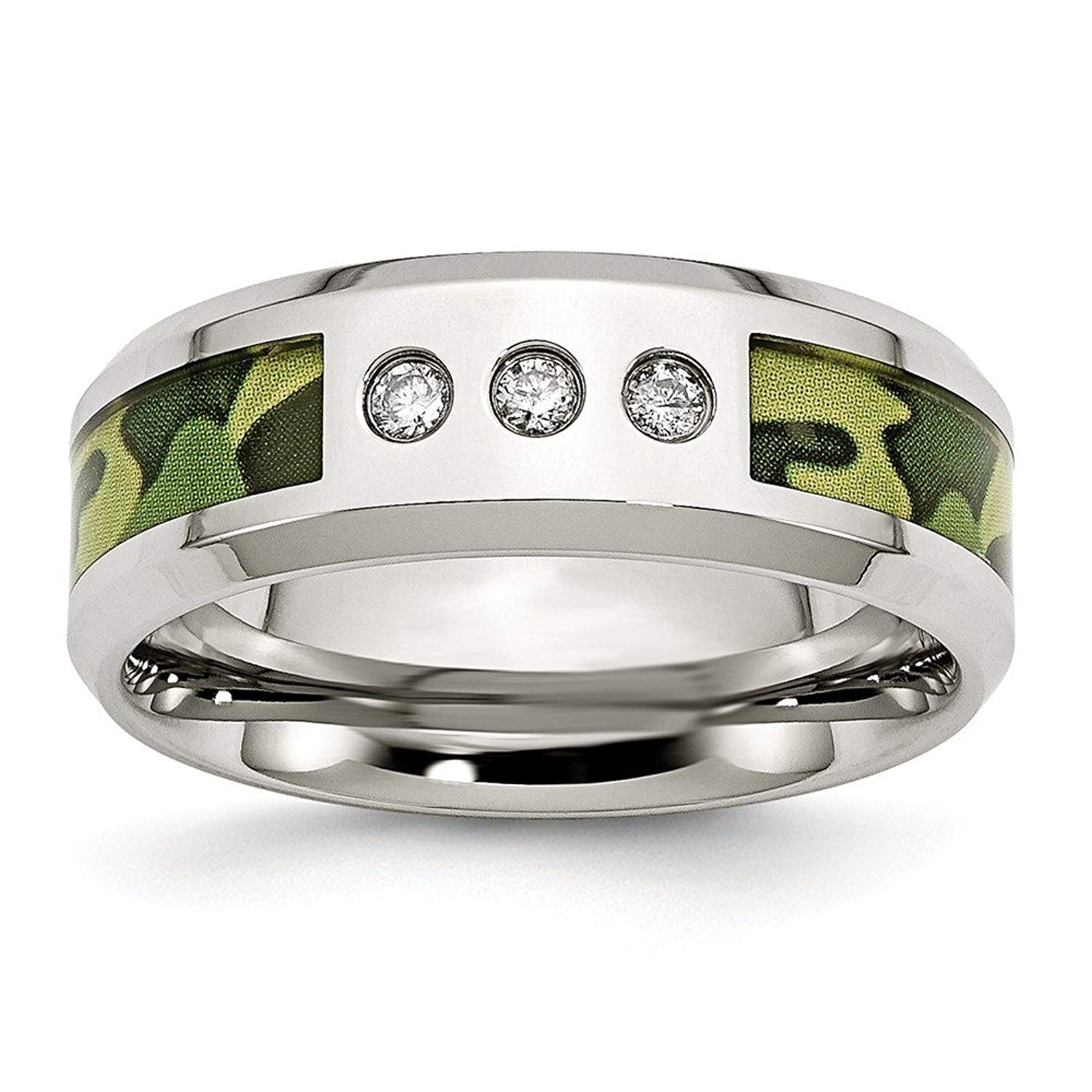 Jewelry Best Seller Stainless Steel Polished Camoflauge 1