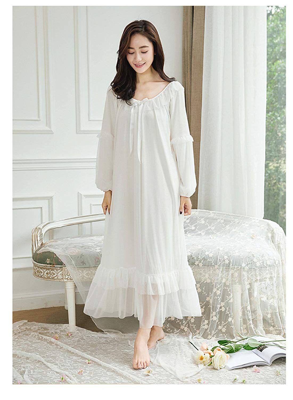 Vintage Long Nightgown Women Victorian Nightgown Chemise Pink Lace Nightgown Elegant Vintage Sleepwear Princess Vintage Nightwear Nighty