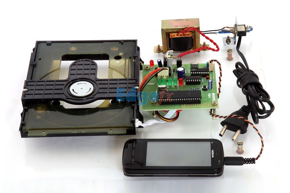 Cell phone based dtmf controlled garage door opening