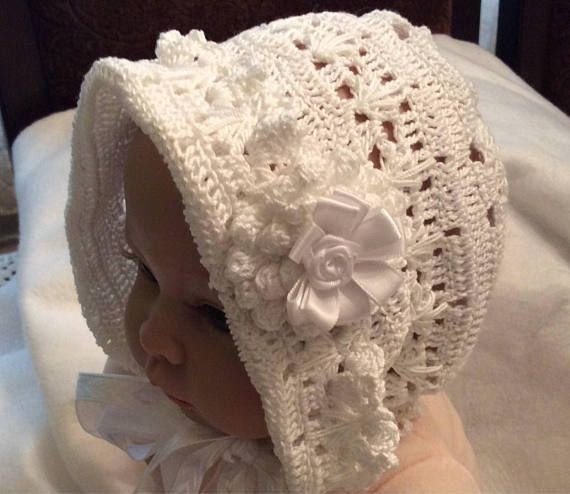 A crochet pdf downloadable pattern of baby Erika bonnet and ...