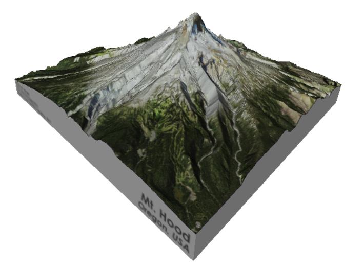 """Mt. Hood 5"""" 3d printed"""