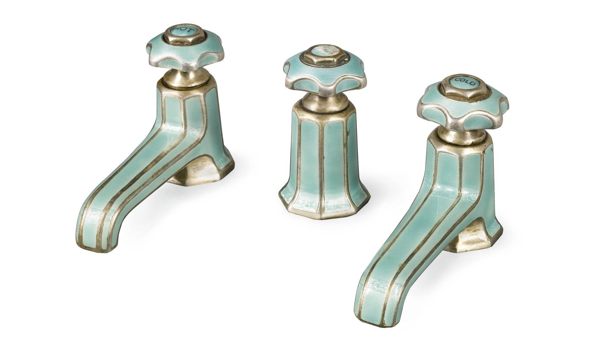 enamelled Art Deco bath taps   Art Deco   Pinterest   Art deco, Taps ...