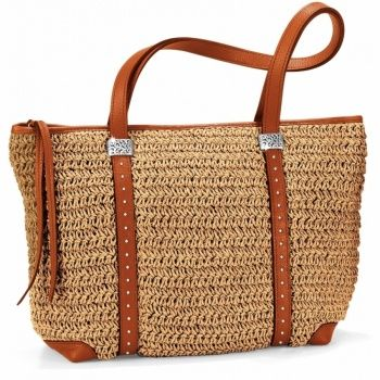 Mingle Monette Large Straw Tote Straw