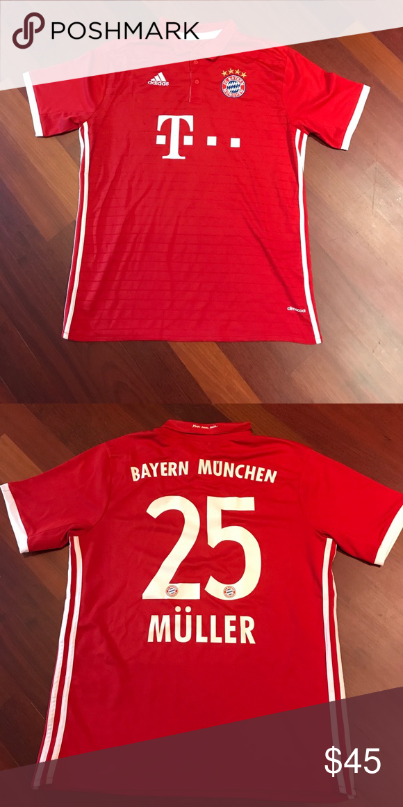 7ea8f333bb8 F.C. Bayern Jersey Home Kit 16 17 Müller 25 Home kit of the 16 17 season. Thomas  Müller. Never worn. Mint condition adidas Shirts Tees - Short Sleeve