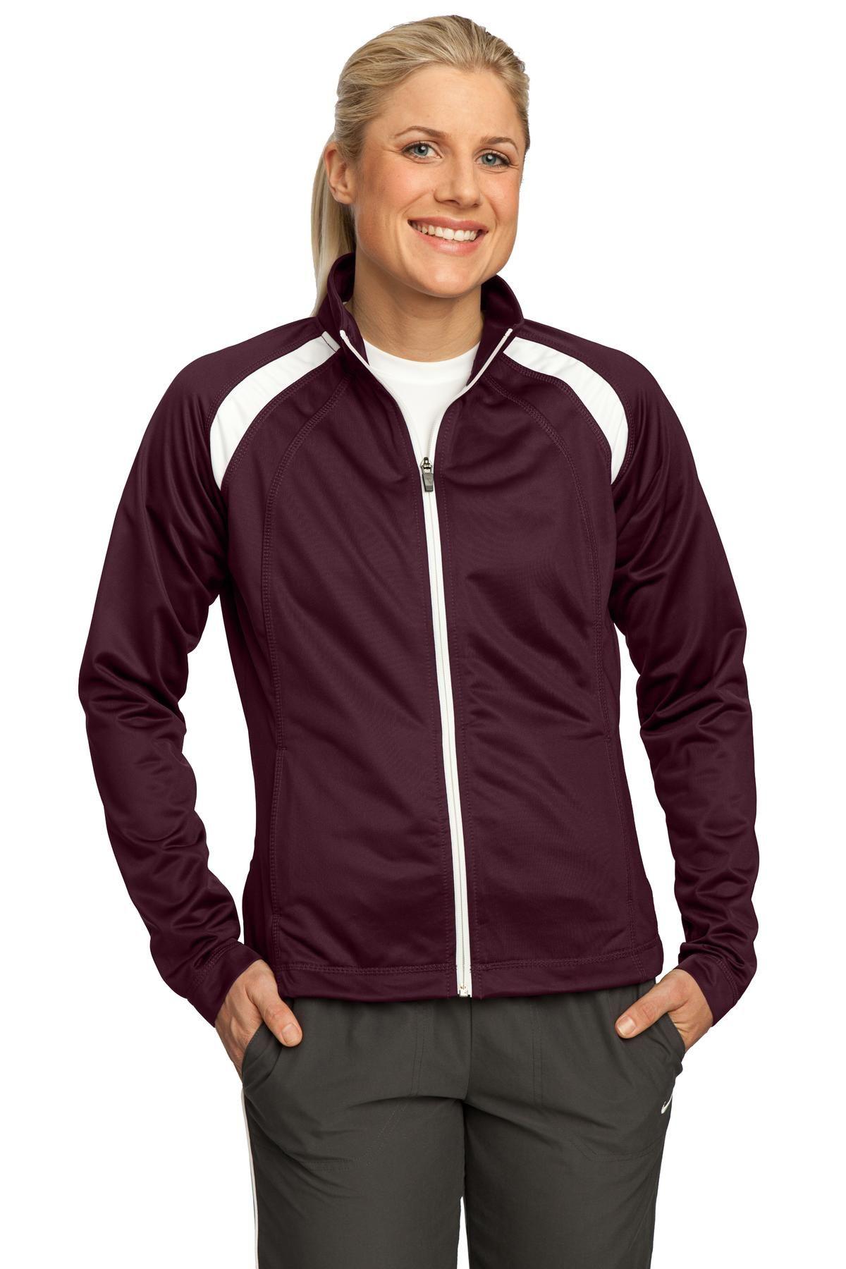 SportTek LST90 Women Tricot Track Jacket