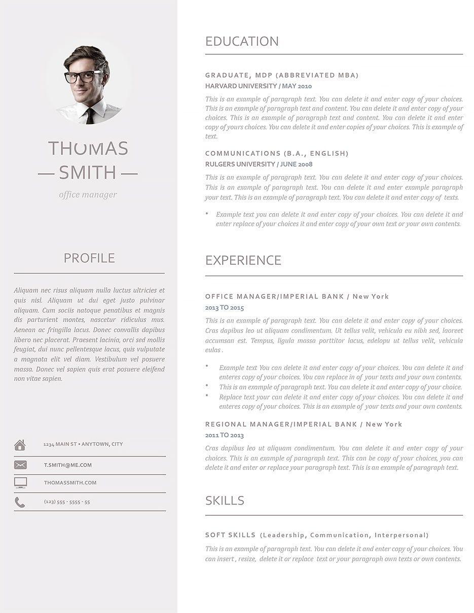 modern resume template 110960  modern resume template