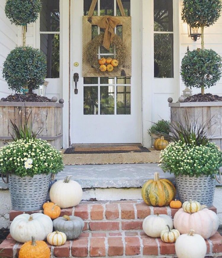 Fall Pumpkins Mums And Rustic Planters November In 2018