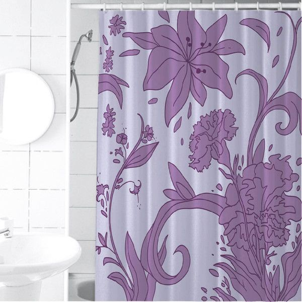 Purple Flower Shower Curtain Macy S Senova Purple Garden