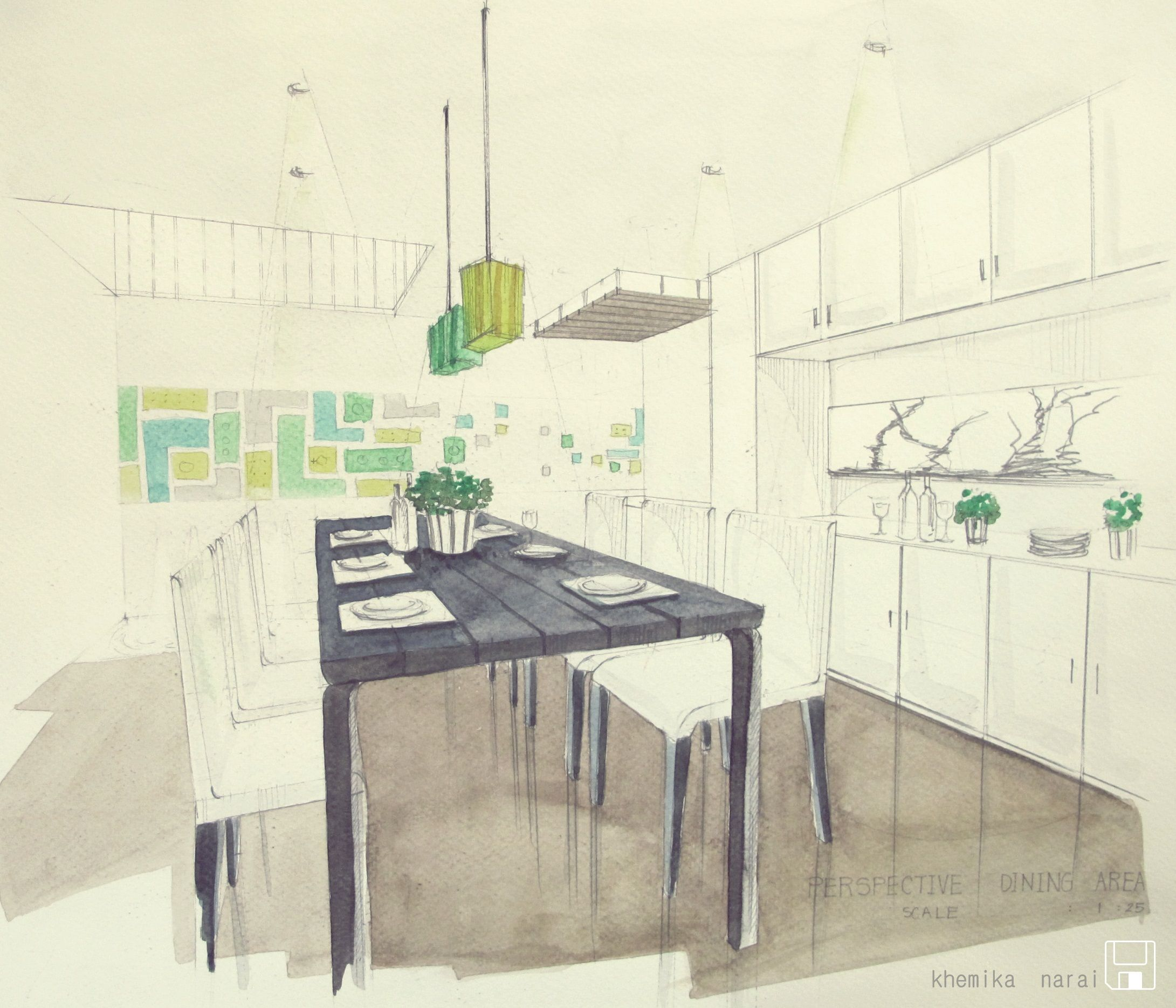 Dining room perspective drawing dining  concept  lego  sketch design  pinterest  sketch design