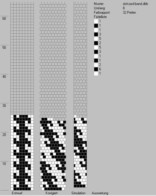 Schlauchketten häkeln - Musterbibliothek: zickzackband   Perlen ...