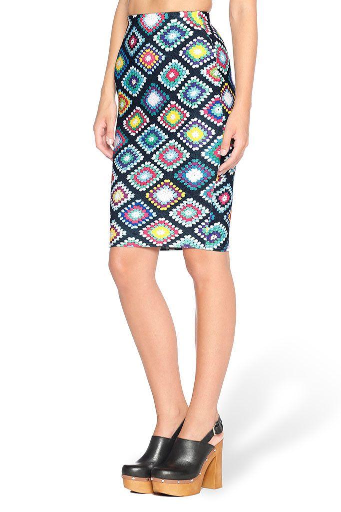 Nana Blanket Midi Pencil Skirt - LIMITED