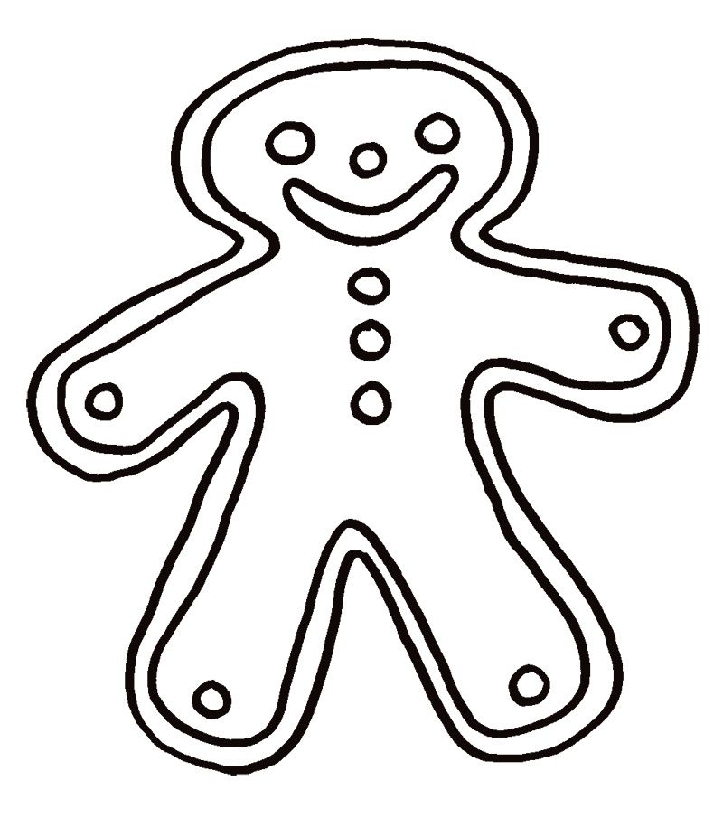 christmas_gingerbread_coloring_pages_for_free (8) | Winter topic ...