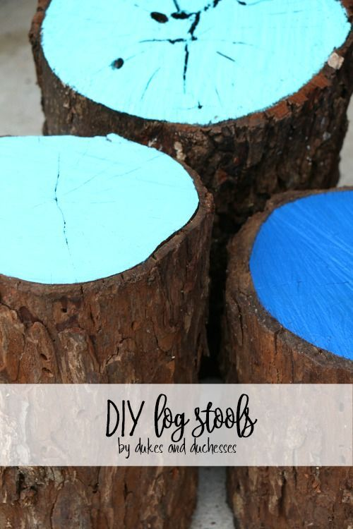 DIY log stools for outdoor seating | Fairy stuff | Pinterest