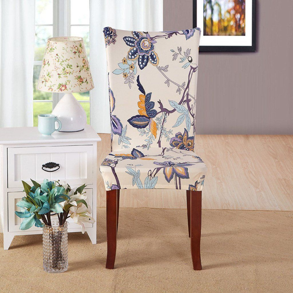 Amazon Com Kaariss Stretch Removable Washable Short Dining Chair Protector Cover Slipcover With Images Dining Chair Covers Dining Chair Slipcovers Seat Covers For Chairs