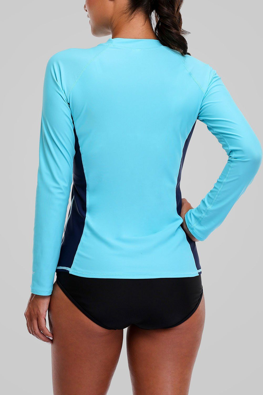 4b022fcde Women'S Diving Rash Guard Shirts - WNDSYN Women Rash Guard Swimwear Long  Sleeve Rashguard Swim Shirts Surf Rashguard Top Swimsuit UPF 50 Aqua XL *  You could ...