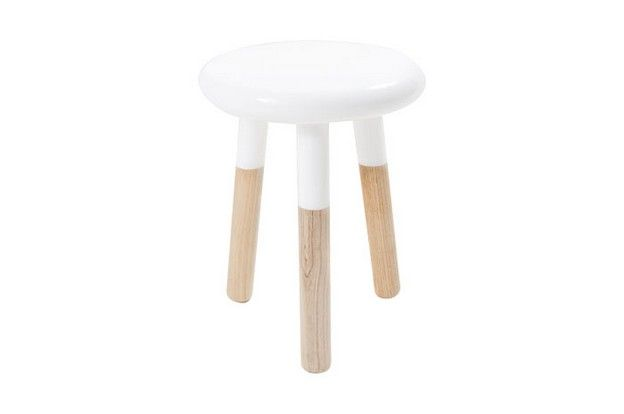 malmo short stool - white top - keekï