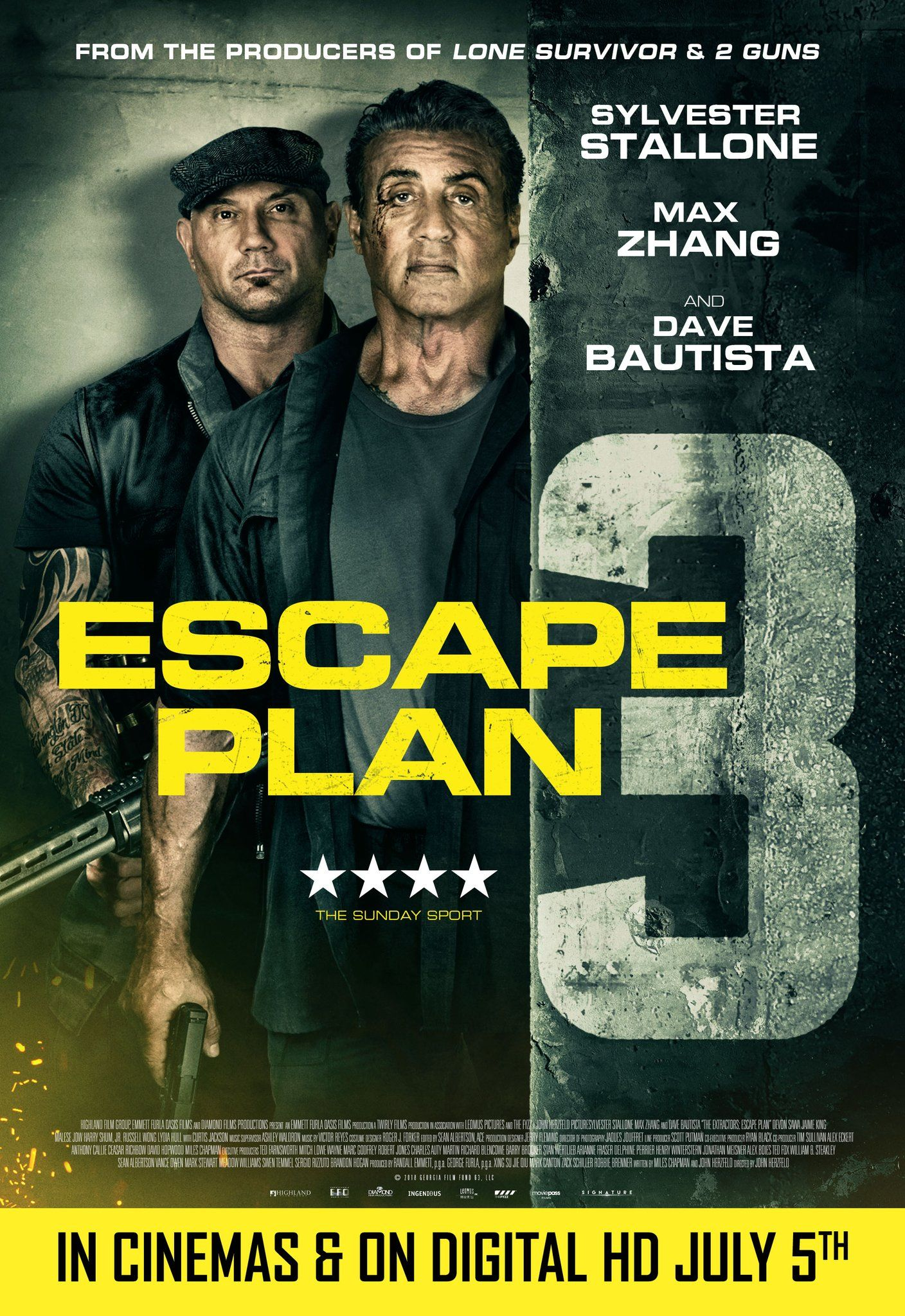 Escape Plan 3 The Extractors Red Band Movie Trailer And Posters Https Teaser Trailer Com Movie Escape Plan 3 Escape Plan Free Movies Online How To Plan
