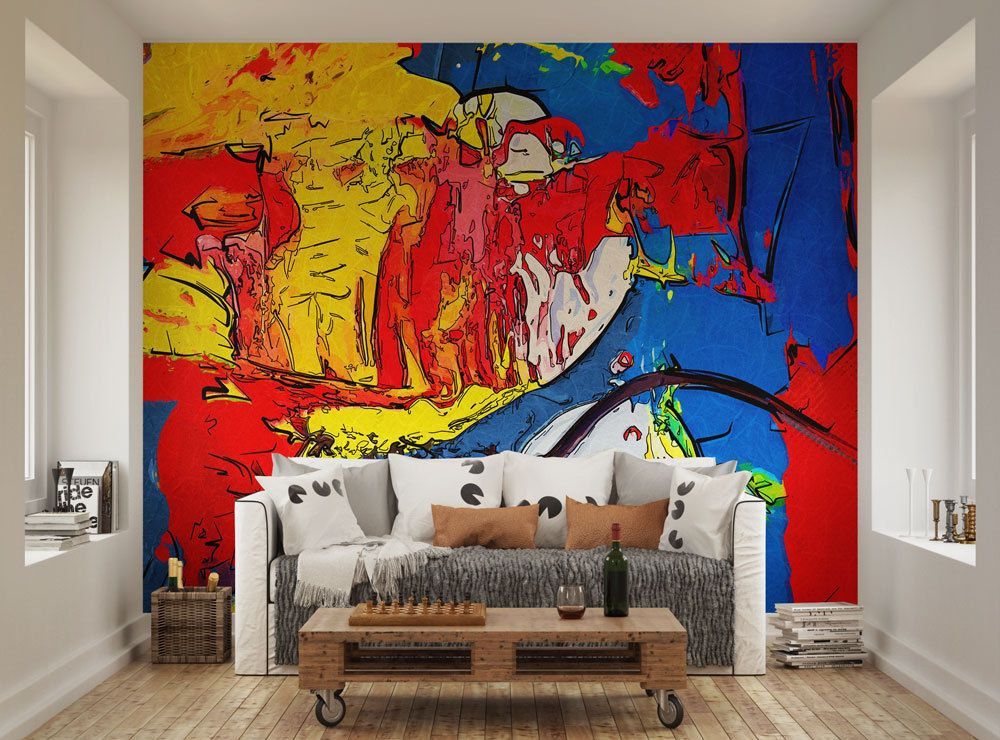 ohpopsi Vibrant Colourful Abstract Painting Funky Wall Mural Wall
