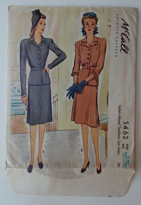 McCall Display Doll Pattern 1943 Manikin Doll Store Display Counter ...