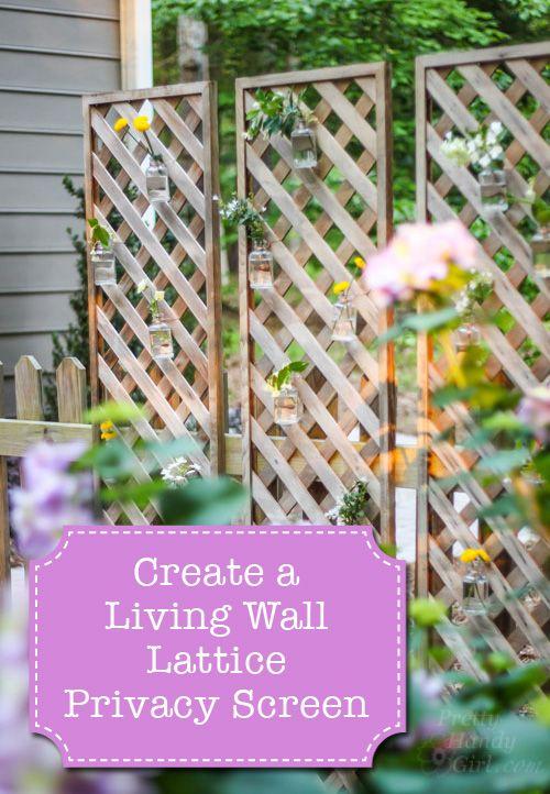 Create a living wall lattice privacy screen pretty handy for Simple deck privacy screen