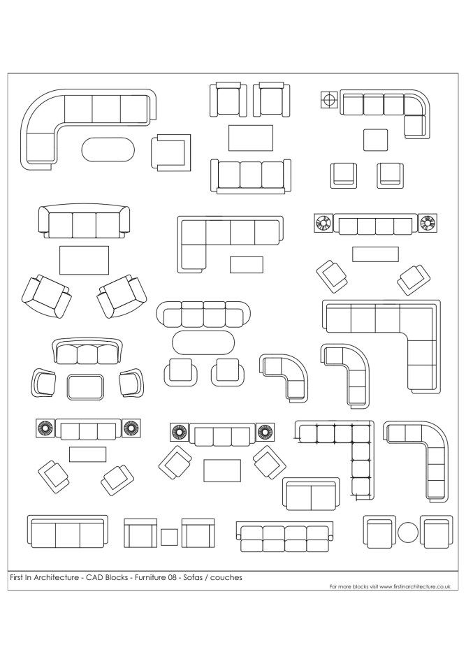 Innenarchitektur Cad free cad blocks furniture 08 sofas couches innenarchitektur