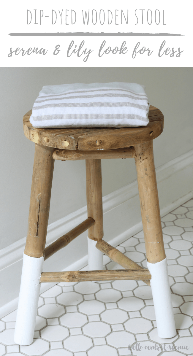 Serena Lily Knock Off Dip Dyed Wooden Stool Wooden Stools Diy