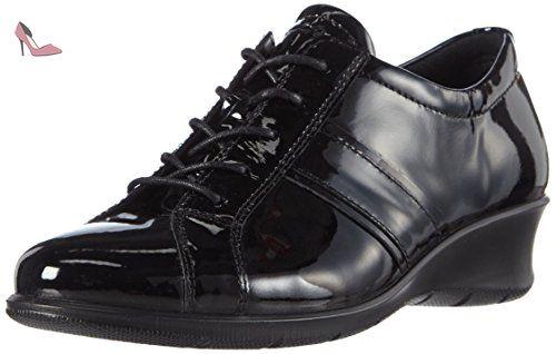 Mobile III, Derby Femme - Noir - Schwarz (BLACK/BLACK51052), 39Ecco