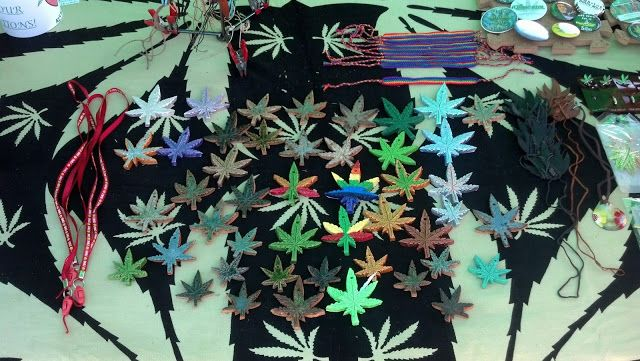 Cannabis Leaves at NORML table
