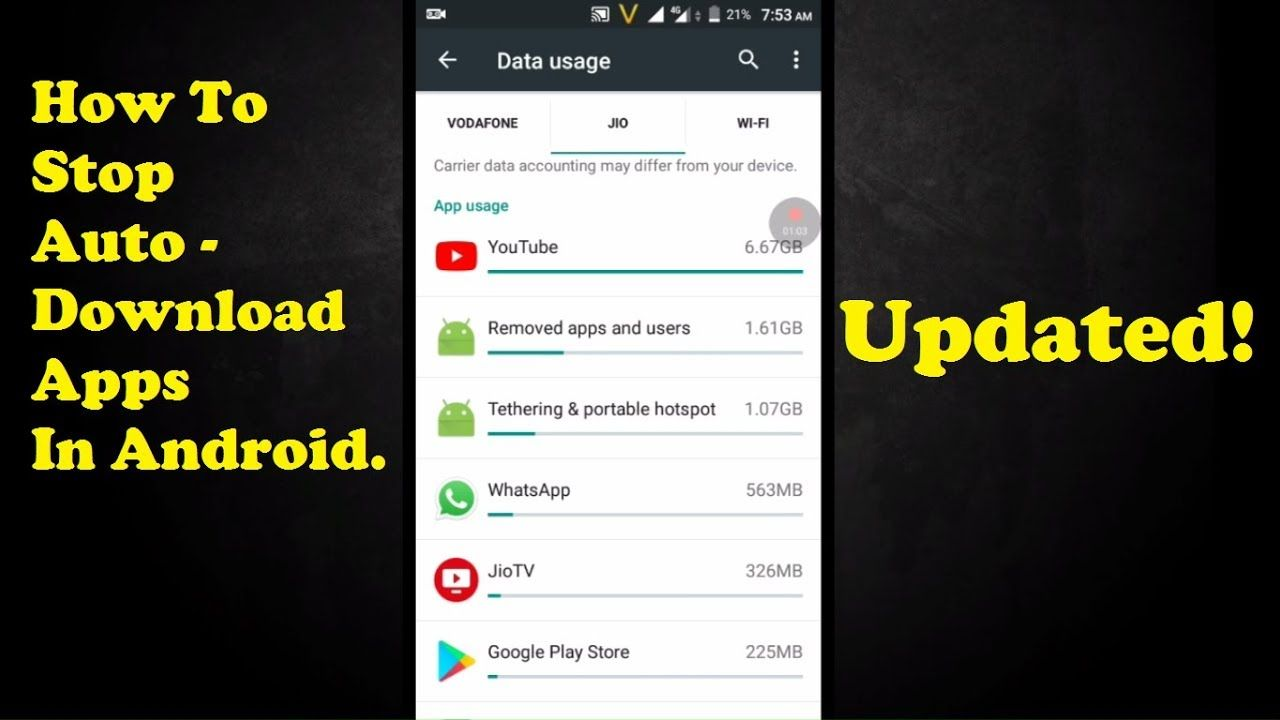 How to stop autodownloading apps in androidstop