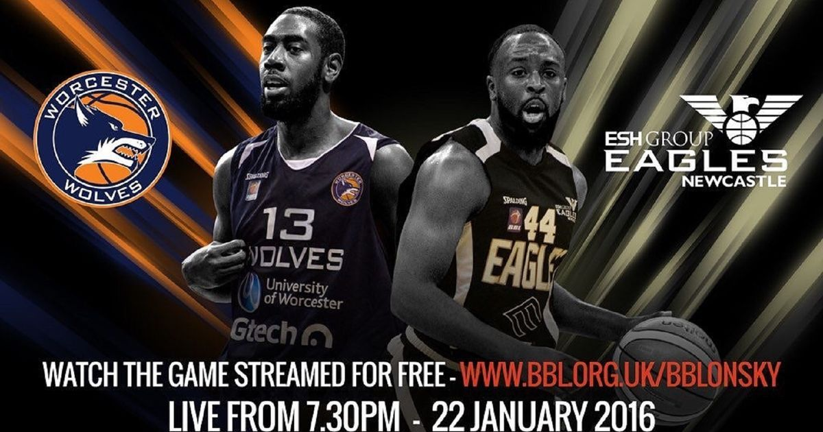 Newcastle Eagles' BBL clash with Worcester Wolves will be
