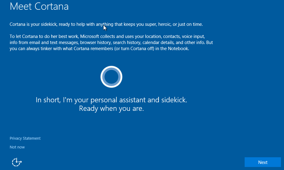 Cortana is a virtual assistant created by Microsoft for