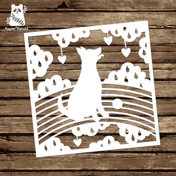 Paper panda papercut diy template rainbow doggy paper panda papercut diy template rainbow doggy maxwellsz