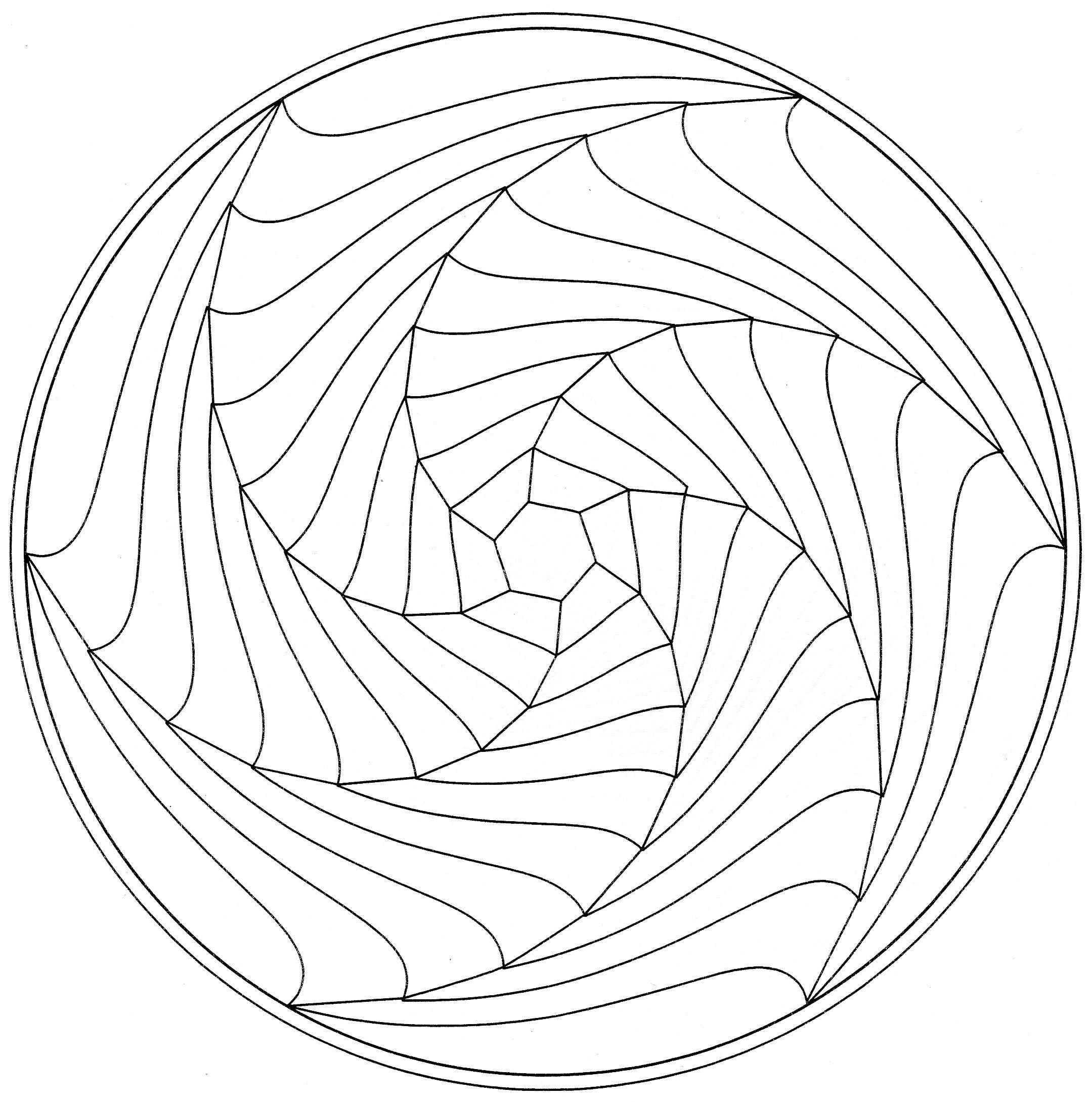 spiral mandala coloring pages