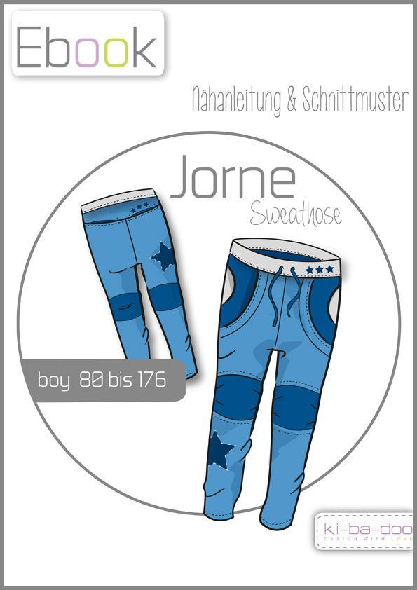 Sweathose Jorne # Gr 80 - 176 # Schnittmuster und Anleitung als PDF ...