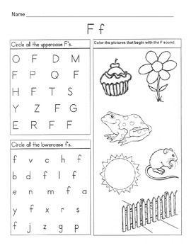 5 Letter F Worksheets / Alphabet & Phonics Worksheets ...