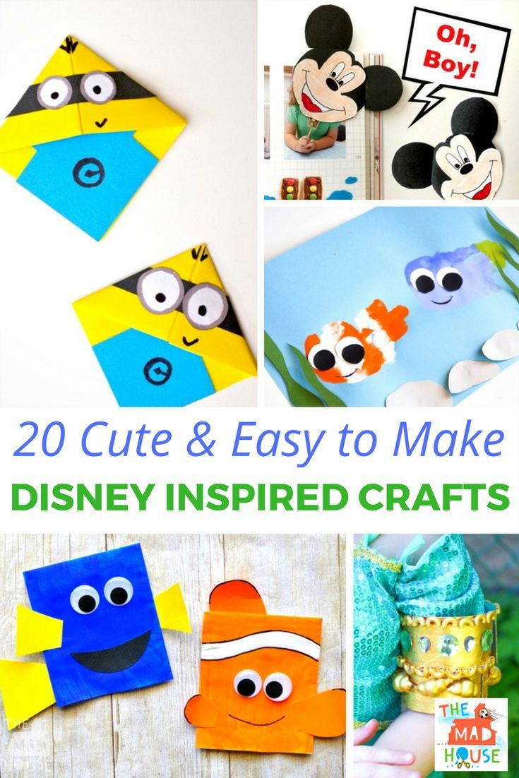 20 Cute and Easy to Make Disney Inspired Crafts #mousecrafts