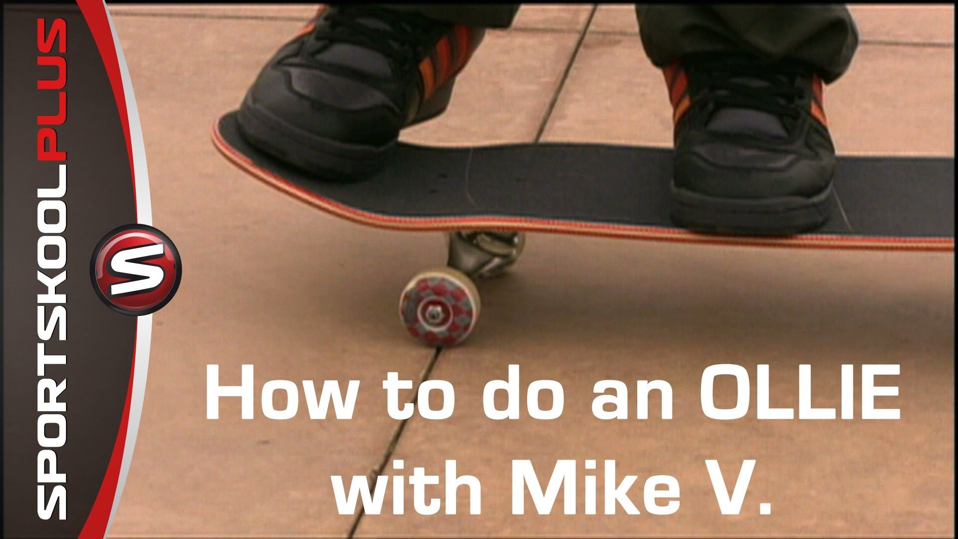 How to do an Ollie with Pro Skateboarder Mike V. Ollie