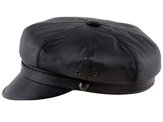 d4583cbaeab8 HARLEY - gorra vintage de piel natural - negra   مالابس   Gorras ...