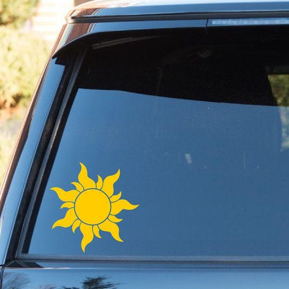 Tangled Rapunzel Sun Vinyl Decal Sticker  Disney  Princess - Disney custom vinyl decals for car