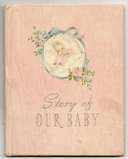 """1941""""Story of Our Baby""""-Baby's First 5 Years book by SarahsAtticStuff, $9.00-Cute book in pink for a little girl-#Collage #Altered"""
