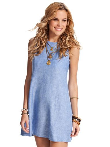 7f4ba73d52 Caribe Sugar Linen Shift Dress