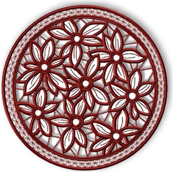 Cama de flor tapete de encaje calado