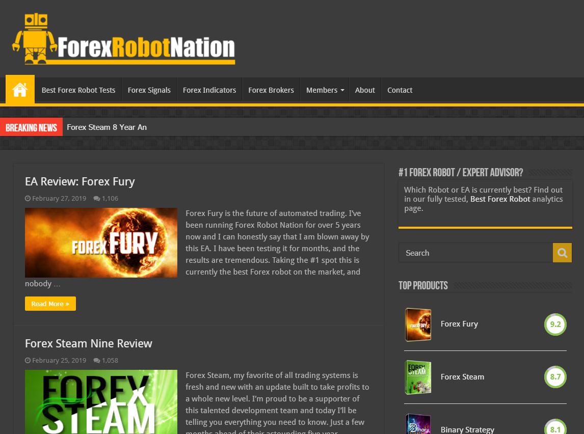 Forex Robot Nation - Forex Robot & Expert Advisor Reviews