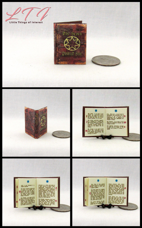 Halloween Magic Book Dark Forces Book Dollhouse Miniatures