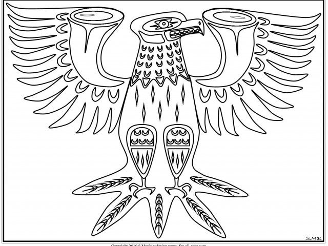 Native American Coloring Pages Printable   Native American Art