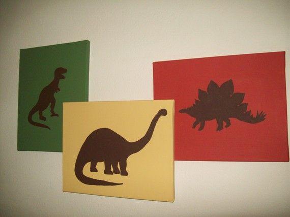 Dinosaur Wall Art dinosaur canvas wall art | dinosaur bedroom, bedrooms and room